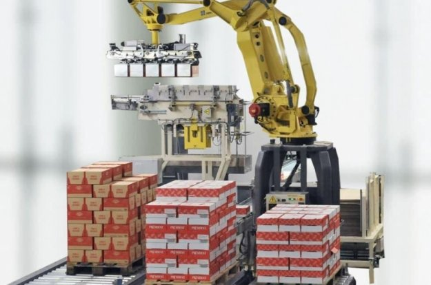 Palletizing and packaging with robots